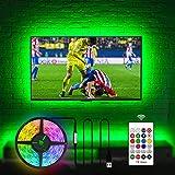 USB TV Hintergrundbeleuchtungs Kit für fernseher 60 65 Zoll, 4.5M USB LED Licht TV Monitor Arbeitsbereich Dekor Abdeckung 4/4 Seiten hinter TV Hintergrundbeleuchtung Umgebungsbeleuchtung