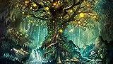 Tapete Fototapete Hintergrund-Tapeten 3D Tapeten Ästhetizismus Mode Interior Tapete Fantasie Wald Wunsch Baum Wohnzimmer Tv Hintergrund Tapeten 300 * 210 Cm