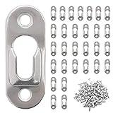 30 Schlüsselloch Kleiderbügel Mit 60 Robust Schraube Metall Schlüssellochaufhänger Für Spiegelrahmen Spiegelschrank