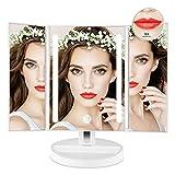 Auxmir Kosmetikspiegel mit LED Licht, Schminkspiegel mit Blendfrei Beleuchtung, Dimmbare Helligkeit für Schminken Rasieren, Makeup Spiegel mit Touchschalter