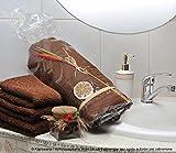 DecoKing 90x150 Badetuch Badetücher Duschtuch Duschtücher Frottee saugfähig braun Schoko