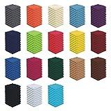 10er Pack - Seiftücher Set - 10 Seiftücher 30x30 cm - Farbe Rot