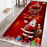 Qlans Christmas Area Teppich Teppich Anti-Rutsch-Fußmatte Boden Teppich Matte für Schlafzimmer Wohnheim Zimmer Küche