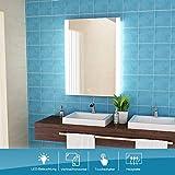 LISA Badspiegel mit Beleuchtung LED Spiegel Rechteckig Wandspiegel nergieeffizienzklasse A++ Kaltweissen Lichtspiegel IP44 Antibeschlage (70 x 50 E)
