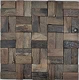 Holz Mosaik Parkett boot OLD Wood Holz FSC Wand Küche Bad Fliesenspiegel WB160-25 1Matte