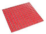 Glasmosaik Rot 2,3 x 2,3 cm Fliesen Mosaik 8 mm