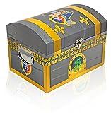 Das Kostümland Ritter Schatzkiste - 3er Set - Schatztruhe Dekoration für Geburtstag, Hochzeit oder Mottoparty - Box Truhe Kiste für kleine und große Ritter