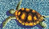 Mosaik Bild Glas grün Bild Turtle papierverklebt 1.600x950mm MOSMB-K35P
