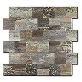 Backsplash PVC-Fliese, zum Aufkleben, für Küche, Badezimmer, Waschtisch, Kamin-Dekor, Wäschetisch, Treppen-Aufkleber, 30,5 x 30,5 cm, 5 Bögen