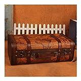 YOSPOSS Retro Koffer Aufbewahrung kz1882-w953Stil Old World MAP Koffer Atlas Design Fall Storage Trunk Holz Hochzeit Post Box