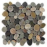 Kieselstein Mosaikfliesen geschnitten - K-1-567 - 1m² = 11 Fliesen Wandfliesen Bodenfliesen - Naturstein Lager Verkauf Stein-Mosaik Herne NRW