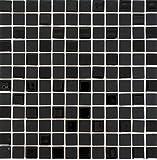Mosaikfliese selbstklebend Transluzent schwarz Glasmosaik Crystal schwarz matt schwarz MOS200-4CM22_f