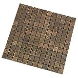 Vintage Bruno Mosaik 2,3x2,3 cm, Feinsteinzeug Fliese mit Holzoptik und dezenter Struktur (Mosaik 1 Lage)