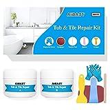 Reparatur-Set für Wanne, Fliesen und Dusche, ca. 100 ml, für Waschbecken, Dusche, Arbeitsplatte, Badewanne, Rissbildung, Porzellan, Nachbesserungsset
