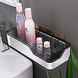 FYLD Badezimmer-Wandregal, selbstklebend kein Bohren abnehmbare Plastik über Waschbecken Dekor Regal - geeignet für Küche/Schlafzimmer/WC,1Pack