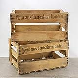 Palatina Werkstatt ® | alte stabile Weinkiste aus der Pfalz | mit Orignal Schriftzug/Aufdruck 1,2,4 oder 6 Kisten (4 Kisten)