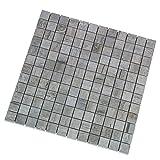 """""""Vintage Grigio"""" Mosaik 2,3x2,3 cm, Feinsteinzeug Fliese mit Holzoptik und dezenter Struktur (Mosaik 1 Lage)"""