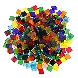 160g Fliesen Mosaik Mosaikfliese Quadrat Mosaiksteine für Wand Boden Deko Handwerk - Platz, 10 * 10mm