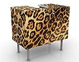 Apalis Waschbeckenunterschrank Jaguar Skin 60x55x35cm Waschbecken Unterschrank, Größe:55cm x 60cm