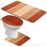 BADGARNITUR ORION 3-TEILIG BADMATTE, BAD SET TERRACOTTA STAND WC