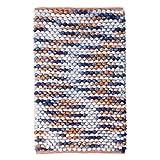Ilkadim Badteppich 25mm dick, flauschig weich, Verschiedene Größen, Badvorleger, Badematte Bettvorleger (Multicolor, 80 x 150 cm)