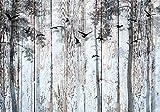 decomonkey Fototapete Holz 100x70 cm XL Tapete Wandbild Bild Fototapete Holzn Tapeten Wandtapete Wandtapete Holzoptik Baum Vogel Natur