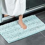 XIYUNTE Chenille Badematte rutschfeste - 50x80cm Mikrofaser Teppiche Absorbent Sanft Badvorleger Badezimmer Duschmatten, Waschmaschinenfest
