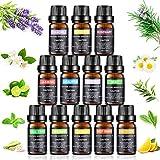 Ätherische Öle Set, joylink Aromatherapie Duftöl 100% Pure Ätherische Öle Geschenk-Set Aromatherapie therapeutisches Öl Für Diffuser/Duftlampen/Lufterfrischer Geeignet (12 Flavor)
