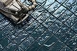 10cm x 10cm Muster. Glas Mosaik Fliesen Muster in Blau Texturiert Lava Baustein Effekt (MT0122 Muster)