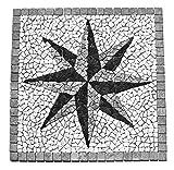 RO-007 Marmor Rosone Einleger Mosaikfliesen Fliesen Lager Verkauf Stein-Mosaik Herne NRW