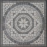 Naturstein Marmor Rosone 60x60 cm Mosaik Einleger Grau Creme Fliesen 053