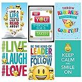 Creative Lehre Press Wand Poster Emoji-Fun inspirieren U Poster 6er Pack, CTP 8093mit