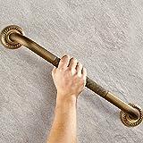 Weare Home Sicherheit Antik Alle Messing Kupfer Einfachheit Bronze Finish geschnitzten Wandhalterung WC Badezimmer Handlauf Bad Accessoires