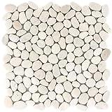 Kieselmosaik Fliesen Xanthos Weiss | Wandfliesen | Glas-Mosaik | Fliesen-Bordüre
