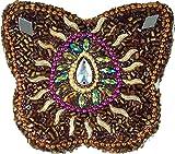 Guru-Shop Indisches Schmuckdöschen, Perlendöschen, Schmuckschachtel Schmetterling, Braun, Metall, Farbe: Braun, 3x8x7 cm, Dosen, Boxen & Schatullen