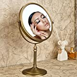 Weare Home Wohnzimmer Badezimmer stehen Retro Vintage Rustic geschnitzt schöner runder Spiegel aus Bronze Messing Kupfer