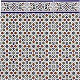 Casa Moro Marokkanische Keramikfliesen orientalisch Rayhan 28 x 14 cm 0,98 m² Mosaik-Muster | Maurische Relief-Fliesen | Schöne Wandfliesen für Küche Bad & Küchenrückwand | FL3050
