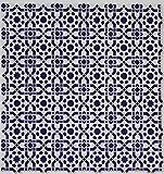Casa Moro Orientalische Relief-Fliesen Istanbul 25x25 cm blau weiß 1 qm   Vintage Wandfliesen für schöne Küche Flur Bad & Küchenrückwand   FL7000