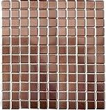 Mosaik Fliesen Mosaikfliesen Keramikmosaik Keramik Kachel kupfer
