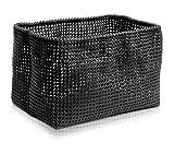 Möve Tube Rechteckiger Korb 16,5 x 28 x 18 cm aus formbarem Kunststoff, Black
