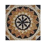 RO-004 90 x 90 cm Marmor Rosone mediterran Einleger Mosaikfliesen Bild Dekoration Stein-Mosaik Fliesen Lager Verkauf Herne NRW