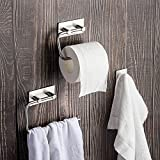 Badezimmer-Zubehör-Set Handtuchhaken Toilettenpapierhalter Handtuchring Handtuchstange Badezimmer Accessoires Set 3 Stück 304 Edelstahl
