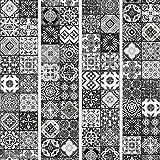 murando - PURO TAPETE - Realistische Tapete ohne Rapport und Versatz 10m Vlies Tapetenrolle Wandtapete modern design Fototapete - Ornament Fliesen f-B-0009-j-d